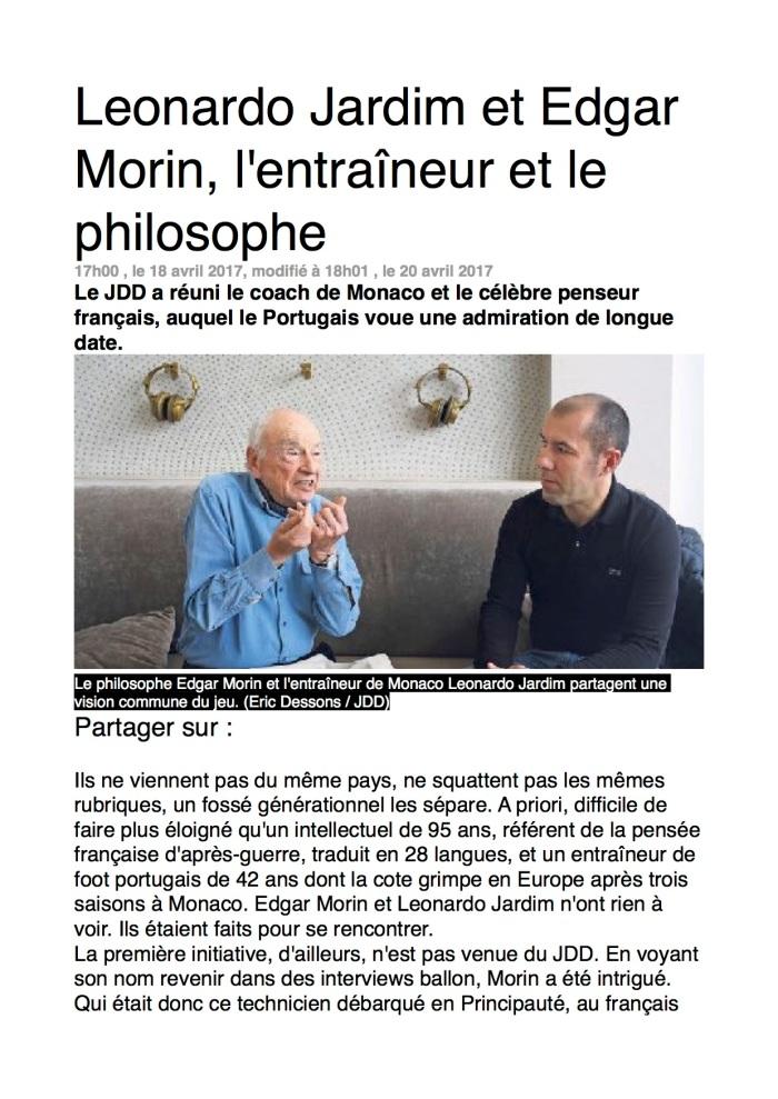 l'entraineur et le philosophe